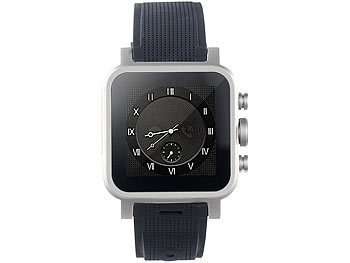 "simvalley MOBILE 1.5""-Smartwatch AW-421.RX 512MB RAM, Alu (refurbished) simvalley MOBILE Android-Smart-Watches"