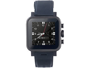 "simvalley MOBILE 1.5""-Smartwatch AW-420.RX mit Android 4.2, BT, WiFi, schwarz simvalley MOBILE Android-Smart-Watches"