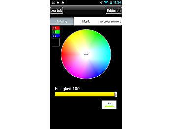 lunartec led streifen lc 500a rgb ip65 netzteil smartphone contr. Black Bedroom Furniture Sets. Home Design Ideas