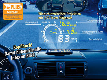lescars head up display hud 55c f r obd2 anschluss mit. Black Bedroom Furniture Sets. Home Design Ideas