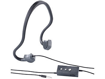 auvisio Kabel-Sport-Headset BC-20 mit Bone Conduction auvisio Kabel Bone Conduction Headsets