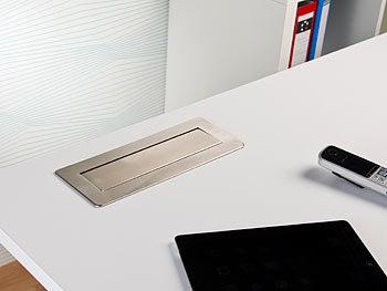Tischsteckdose: Versenkbare Profi-Einbau-Tisch-Steckdose, 3-fach ...