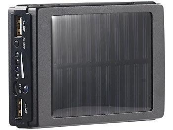 Revolt Ersatz Akku Solarleuchte 2in1 Solar Powerbank Mit