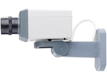visortech video kamera attrappe berwachungskamera attrappe mit motor bewegungssensor und. Black Bedroom Furniture Sets. Home Design Ideas