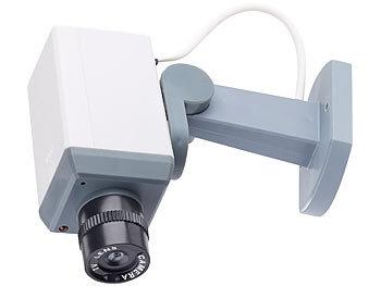 visortech berwachungskamera attrappe mit motor bewegungssensor und signal led. Black Bedroom Furniture Sets. Home Design Ideas