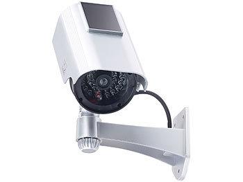 batteriebetrieben Überwachungskamera Dummy Kameraattrappe mit LED Atrappe