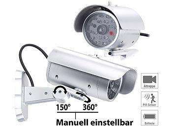 LED Kamera Dummy Überwachungskamera Attrappe Fake CCTV Außen Alarmanlage Camera