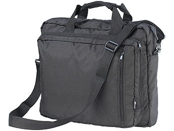 "Laptop Reisetasche: Xcase Ultraflexible 3in1-Reisetasche für Notebooks bis 17"" WideScreen"
