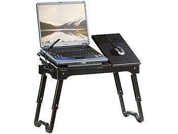Notebook-Tisch mit Schwanenhals-LED, höhenverstellbar, 4-fach USB-Hub / Laptoptisch