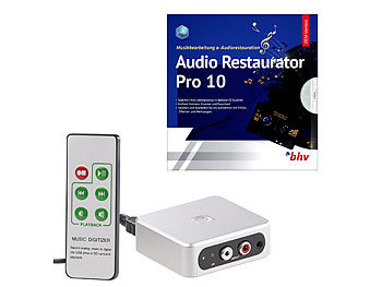 Audio Digitizer: auvisio Autarker Audio-Digitalisierer mit Software Audio Restaurator Pro 10