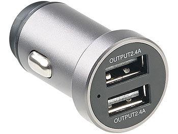 revolt Kfz USB Netzteil: Kfz USB Ladegerät mit Display
