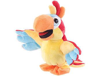 Playtastic Spielzeug: Sprechender Plüsch Papagei mit