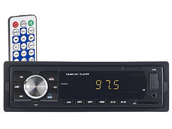 PEARL MP3-Autoradio mit Bluetooth, Freisprech-Funktion, USB & SD, 4x 45 Watt PEARL