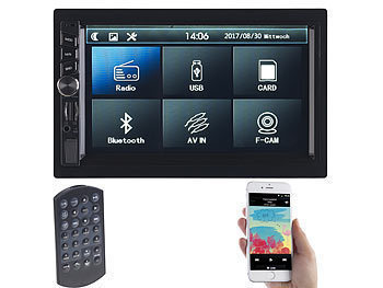 Creasono 2-DIN-MP3-Autoradio mit Touchdisplay, Bluetooth, Freisprecher, 4x 45 W Creasono 2-DIN-MP3-Autoradio mit Bluetooth und Video-Anschlüssen