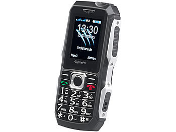 simvalley Mobile 2er-Set stoßfeste Outdoor-Handys, Dual-SIM-Funktion, Bluetooth, IP67