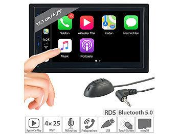 2-DIN-Autoradio mit Freisprechfunktion, Apple CarPlay, 17,1-cm-Display / Autoradio
