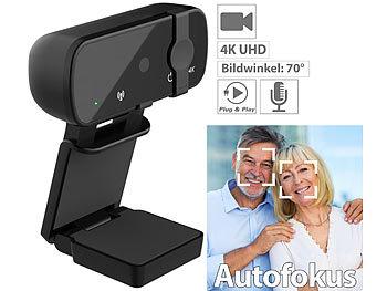 4K-USB-Webcam mit Linsenabdeckung, Mikrofon und Autofokus / Webcam