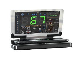 Gps Entfernungsmesser Xxl : Lescars gps tacho head up display mit qi kompatibler ladefläche