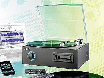 q sonic usb kassetten plattenspieler inkl audio. Black Bedroom Furniture Sets. Home Design Ideas