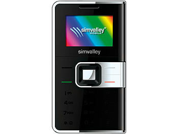 "simvalley MOBILE Mini-Handy RX-280 ""Pico COLOR Silver"" VERTRAGSFREI simvalley MOBILE Scheckkartenhandys"