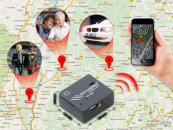 simvalley MOBILE GSM-Tracker GT-60 mit SMS-Ortung und Mikrofon simvalley MOBILE GSM-Tracker