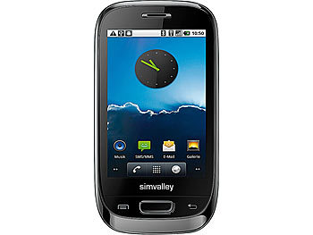 "simvalley MOBILE Dual-SIM-Smartphone mit Android2.2 ""SP-40 EDGE"", WLAN simvalley MOBILE Android Smartphones"