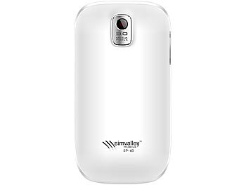 "simvalley MOBILE Dual-SIM-Smartphone mit Android 2.2 ""SP-60 GPS"" WHITE (refurbished) simvalley MOBILE Android Smartphones"