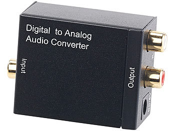 auvisio Audio-Konverter Digital (Toslink/Koaxial) zu Analog (Cinch) mit Kabel auvisio Audio-Konverter digital zu analog