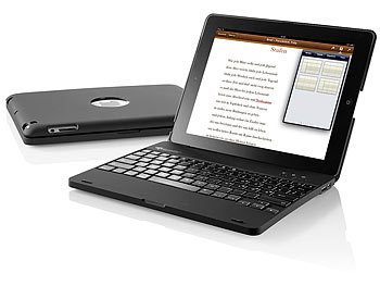 GeneralKeys iPad3/4-Netbook-Case mit 4000 mAh Akku, Bluetooth-Tastatur GeneralKeys Bluetooth-Tastaturen fürs iPad