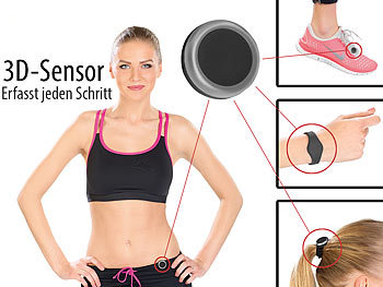 newgen medicals Fitness-Tracker FBT-70-3D.mini mit Bluetooth 4.0 newgen medicals Bluetooth Fitness Tracker Clips