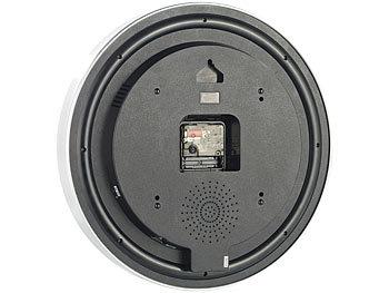octacam wanduhr mit kamera wanduhr in edlem alu design mit integrierter hd videokamera. Black Bedroom Furniture Sets. Home Design Ideas