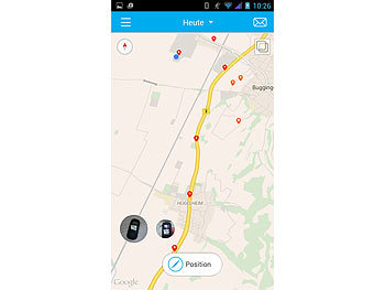 simvalley MOBILE GPS-/GSM-Tracker GT-340 SMS-Ortung, Geofencing, SOS simvalley MOBILE GSM-Tracker