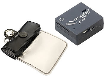 simvalley MOBILE GSM-Tracker GT-60 inkl. wasserfester Tasche simvalley MOBILE GSM-Tracker