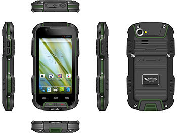 "simvalley MOBILE Outdoor-Smartphone SPT-900 V2, 4"", IP68 (refurbished) simvalley MOBILE Android-Outdoor-Smartphones"