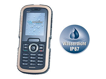 simvalley MOBILE Wasserdichtes Dual-SIM-Outdoor-Handy XT-640 simvalley MOBILE Dual-SIM Outdoor-Handys