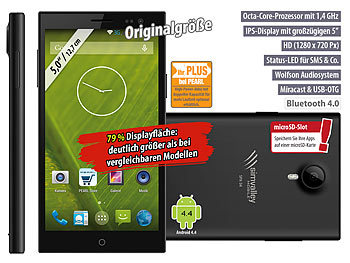 "simvalley Mobile Dual-SIM-Smartphone SPX-34 OctaCore 5.0"", Android 4.4"