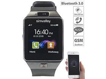 Handy Uhr Mit Sim Karte.Simvalley Mobile Uhr Mit Sim Karte 1 5 Handy Uhr Smartwatch Pw