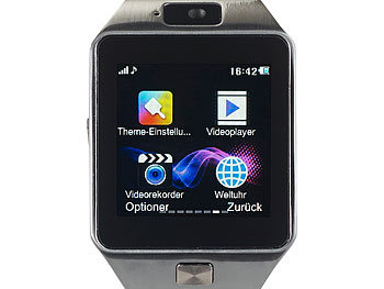 "simvalley MOBILE 1,5""-Handy-Uhr/Smartwatch PW-430.mp, BT 3.0, Kamera (refurbished) simvalley MOBILE Handy-Smartwatches mit Bluetooth für Android"