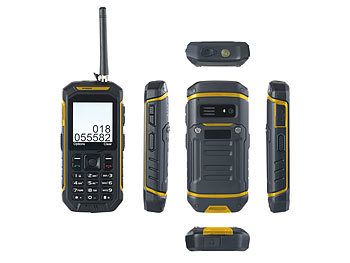 simvalley MOBILE Dual-SIM-Outdoor-Handy mit Walkie-Talkie XT-820 simvalley MOBILE Dual-SIM Outdoor-Handys mit Walkie-Talkie-Funktion
