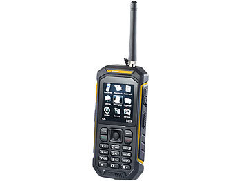 simvalley MOBILE Dual-SIM-Outdoor-Handy mit Walkie-Talkie-Funktion, 2er-Set simvalley MOBILE Dual-SIM Outdoor-Handys mit Walkie-Talkie-Funktion