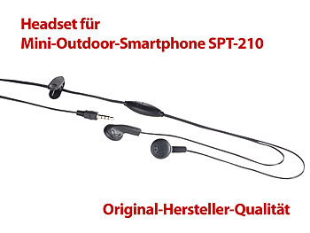 simvalley mobile wetterfestes smartphone stereo headset f r mini outdoor smartphone spt 210. Black Bedroom Furniture Sets. Home Design Ideas