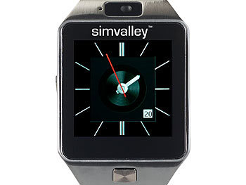 simvalley mobile kamera armbanduhren handy uhr smartwatch. Black Bedroom Furniture Sets. Home Design Ideas