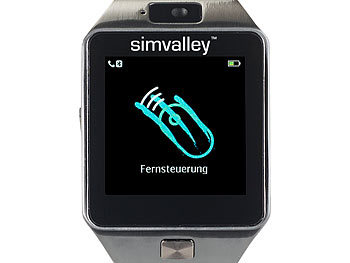 simvalley mobile uhrenhandy handy uhr smartwatch mit kamera bluetooth 4 0 ios android. Black Bedroom Furniture Sets. Home Design Ideas