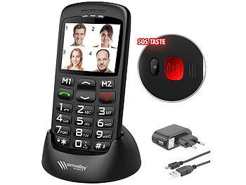 simvalley mobile mobiltelefon komforthandy mit bluetooth garantruf ladestation 5 6 cm. Black Bedroom Furniture Sets. Home Design Ideas