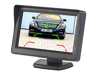 Kfz-Monitor für Rückfahr- & Front-Kamera, LCD-Display mit 10,9 cm/4,3