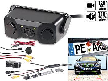 Farb-Rückfahrkamera & Einparkhilfe m. Abstandswarner, LED-Ausleuchtung / Rückfahrkamera