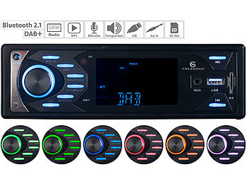 Autoradios: Creasono MP3-Autoradio mit DAB+, Bluetooth & Freisprech-Funktion, 4x 45 Watt