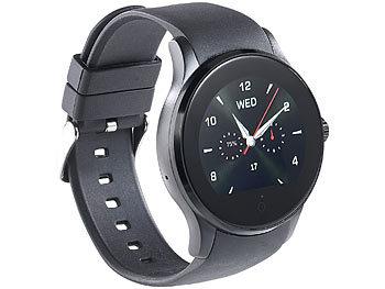 simvalley mobile smartwatch f r sim handy uhr smartwatch mit bluetooth herzfrequenz. Black Bedroom Furniture Sets. Home Design Ideas