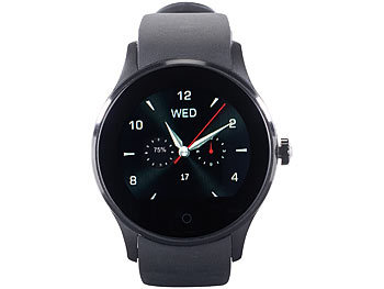 simvalley mobile smartuhr handy uhr smartwatch f r ios android mit bluetooth. Black Bedroom Furniture Sets. Home Design Ideas