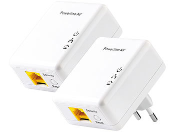 7links 500Mbps-Nano-Powerline-Netzwerkadapter (2er-Set) 7links Powerline-Adapter